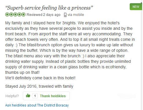 """""""Superb service feeling like a princess"""" Tripadvisor Review"""