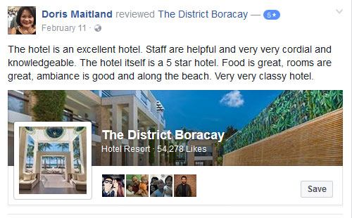 """""""The hotel is an excellent hotel"""" Facebook Review"""
